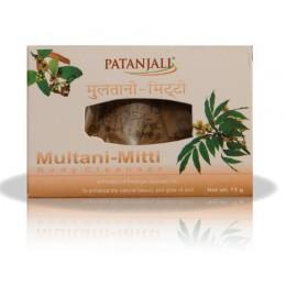 "Мыло аюрведическое с глиной ""Мултани Митти"" (Patanjali Multani Mitti), 75 гр"