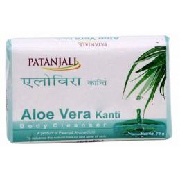 "Мыло ""Алое Вера"" (Patanjali Kanti Aloe Vera Body Cleanser Soap), 75 гр"