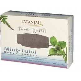 Мыло с мятой и тулси (Mint & Tulasi Soap Diviya Patanjali), 75 гр