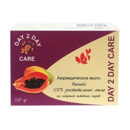 Мыло Натуральное Папайя DAY 2 DAY CARE, 100 гр