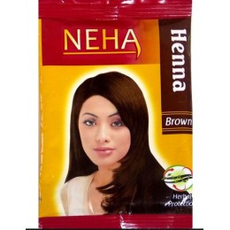 Хна натуральная цвет коричневый, 20 гр.  (NEHA Henna Brown)