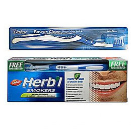Зубная паста для курящих Dabur Herb'l Smokers с зубной щеткой, 150гр