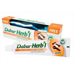 Зубная паста  Дабур Хербл Гвоздика с зубной щеткой, 150 гр. ( Dabur Herbl  clove)