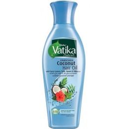Кокосовое масло Dabur Vatika для волос обогащенное листьями карри, тулси, нимом и гибискусом, 250 мл.